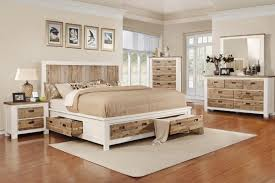 White Storage Bed Western King Bed With Storage