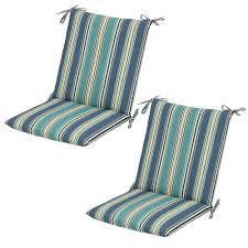 hampton bay rainforest stripe mid back outdoor dining chair