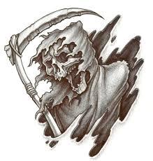 impressive static grim reaper tattoo design for boys picsmine