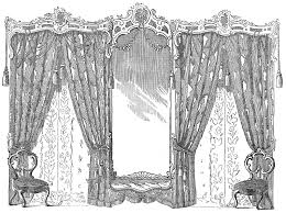 Fancy Drapes Vintage Image Fancy Drapes And Chairs Godey U0027s The Graphics Fairy