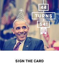 barack obama birthday card birthday decoration