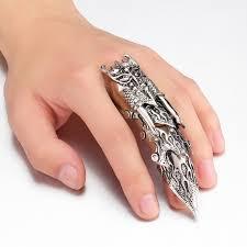fashion long rings images Buy fashion dragon pattern design long rings jpg