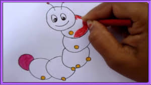 how to draw a caterpillar for children youtube