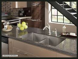 Bronze Faucet With Stainless Steel Sink Granite Countertop Corner Kitchen Sink Units Tuscan Bronze