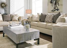 contemporary loveseat in linen