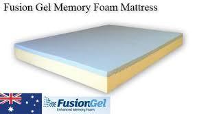 fusion gel memory foam mattress u2013 town u0026 country mattresses u0026 beds