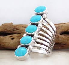 big silver rings images Navajo made big multi turquoise stone sterling silver ring size jpg