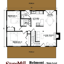 Efficiency Floor Plans Belmont I Log Floor Plan Stonemill Log U0026 Timber Homes