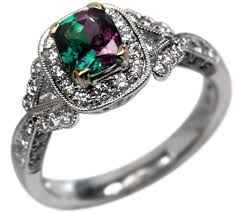 chagne diamond engagement ring created alexandrite ring color change russian chrysoberyl