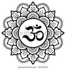 om tattoo indian symbol stock images royalty free images