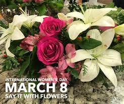 flowers international international women s day is wednesday show with flowers