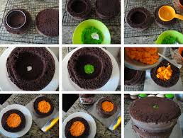 Making Halloween Cakes by Worth Pinning Pumpkin Inside The Cake
