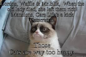 Rich Cat Meme - grumpy cat memes quickmeme