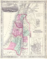 Map Of Israel And Palestine File 1864 Johnson Map Of Israel Palestine Or The Holy Land