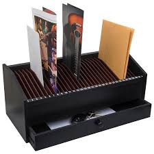 Desk Mail Organizer 17 31 Slot Wooden Bill Letter Organizer With