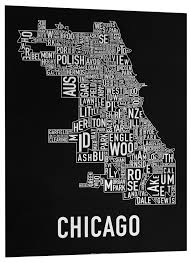 Chicago Community Map by The Original Chicago Type Neighborhoods Map Locally Made In Chicago
