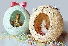 sugar eggs easter diy sugar string easter egg baskets melodrama