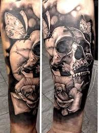 38 best black and grey skull sleeve tattoos images on