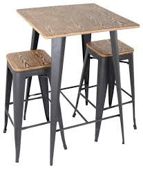 Industrial Bistro Table Appealing Industrial Bistro Table With Steel Bistro Table Modern