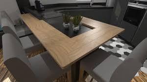 cuisine plan de travail bois massif cuisine moderne gris anthracite mat et galerie avec plan de