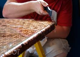 Epoxy Table Top Ideas by Epoxy Bar Top Ideas Free Penny Table Using Pour On Epoxy Epbot