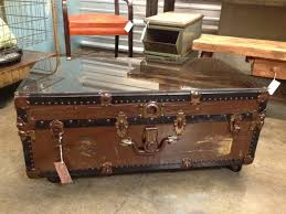 Coffee Tables Chest Steamer Trunk Coffee Table With Drawers Beblincanto Tables
