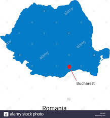 Map Of Romania Detailed Vector Map Of Romania And Capital City Bucharest Stock