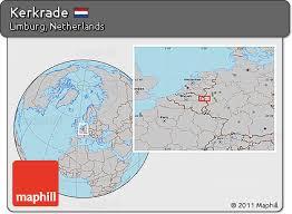 kerkrade netherlands map free gray location map of kerkrade