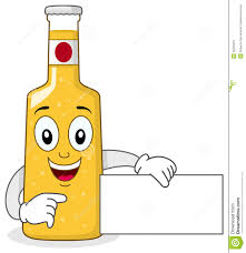 beer bottle cartoon smiling glass beer bottle character stock vector image 42200257