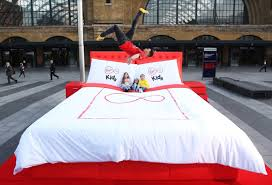 virgin media launches new kids app with giant trampoline bed in