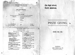 programme for 1928 prize giving ceremony nwghs 1928 contributor