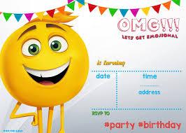 free birthday invitations free birthday invites templates fresh free printable emoji