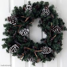 diy winter wreath antler wreath idea crafts unleashed