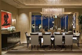 arc floor l dining room dining room modern dining room with rectangular crystal chandelier