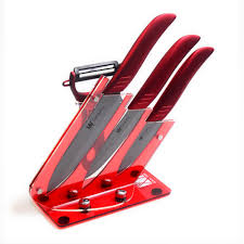red multifunctional kitchen knives holder good grade 3 piece red multifunctional kitchen knives holder good grade 3 piece ceramic knife set black balde red handle cooking knife peeler in knife sets from home