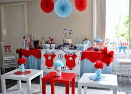 Dr Seuss Baby Shower Decor Party Of 11 Tempting Fate A Thing 1 And Thing 2 Baby Shower Baby