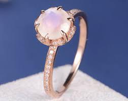 Moonstone Wedding Ring by Moonstone Engagement Ring Etsy