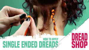 installing extension dreads in short hair how to install single ended synthetic dreads by dreadshop youtube