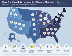 us climate map shows how climate change will affect health across us