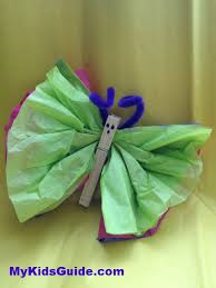 Butterfly Crafts For Kids To Make - easy easter crafts for kids diy tissue paper butterflies