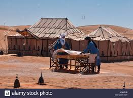 Set The Table by Berbers Set The Table At A Luxury Desert Camp In The Sahara At Erg