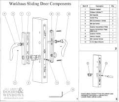 Peachtree Doors And Windows Parts by Keyed Entry 1 75 Sliding Door Hardware