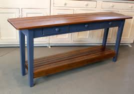North Shore Sofa Table by Barn Wood Console Table With Slatted Shelf Ecustomfinishes
