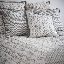indigo ikat cushion cover w insert grey chevron ikat