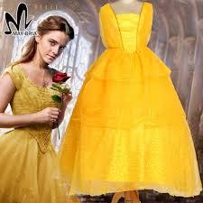 Halloween Costumes Belle Beauty Beast Aliexpress Buy Newest Girls Belle Dress Emma Watson Princess