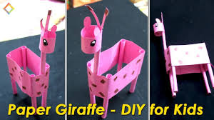 paper giraffe easy craft for kids paper craft for kids youtube