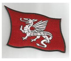 Flag And Cross Cross Of St George Crossed With White Dragon Flag Patch 4 99