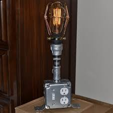 Table Lamps With Outlets In Base Ideas For Diy Steampunk Lamps Modern Wall Sconces And Bed Ideas