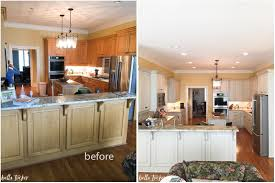 Glazing Kitchen Cabinets Before And After by Painted Kitchen Cabinets Before And After Home Design Ideas