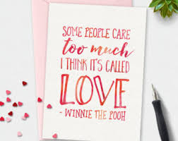 romantic anniversary card winnie pooh quote birthday